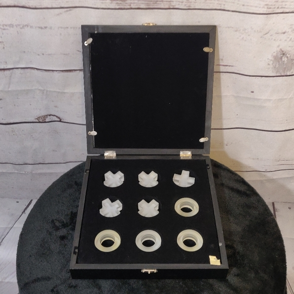 None Other - Wood Mirrored Tic Tac Toe Set